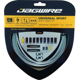 Jagwire Sport Universal Schaltzugset für Shimano/SRAM/Campagnolo geflochten weiß